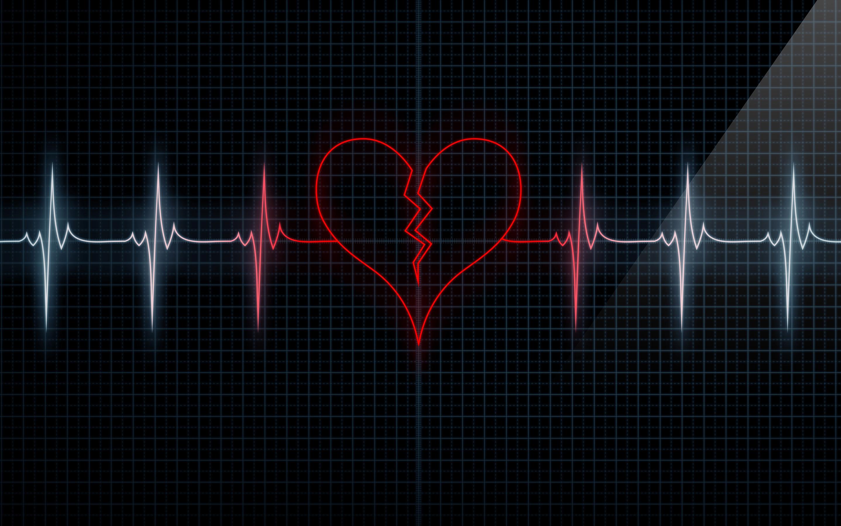 картинки ритм сердца на черном фоне